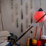 Tuna chair and fishing rod