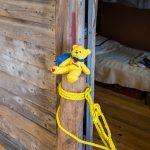 Treasure Bear at the bunkhouse